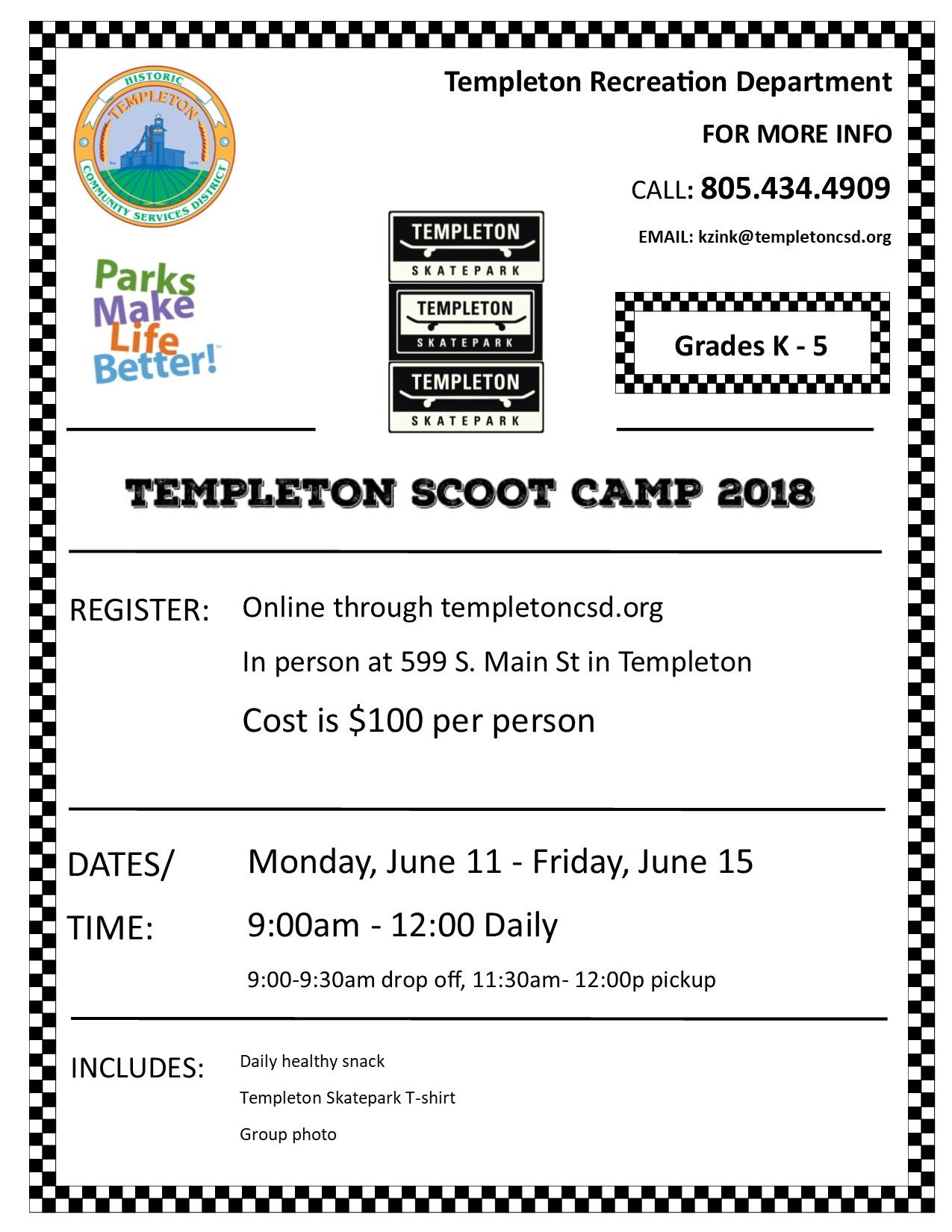 Scoot camp flyer 2018