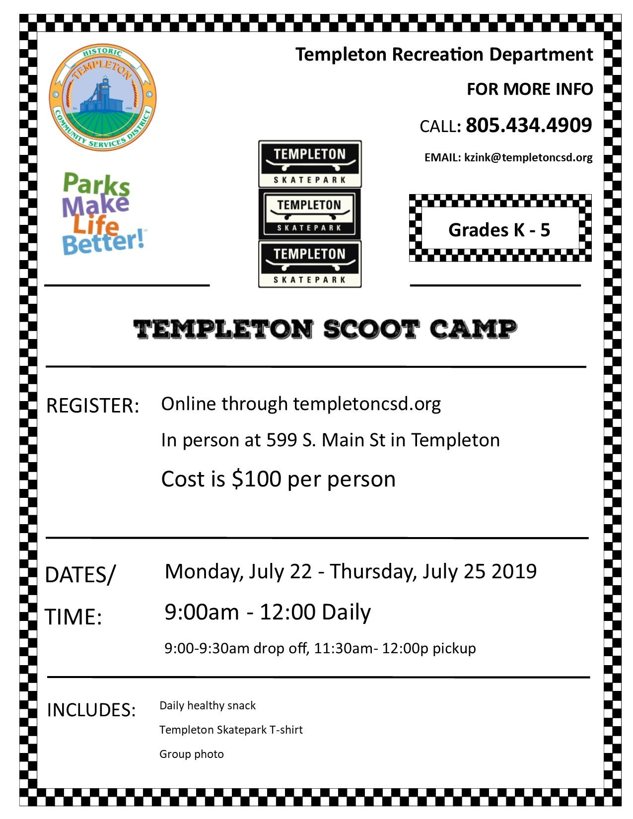 Scoot camp flyer 2019